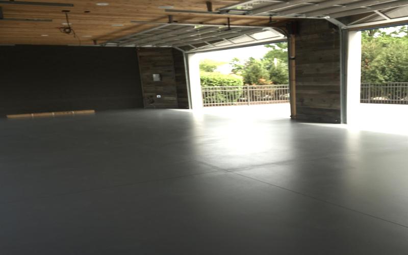 Garage floor fully painted
